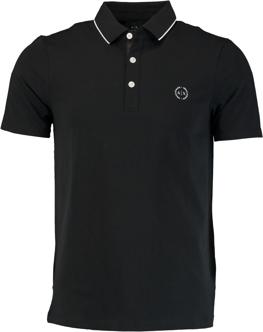 Armani Exchange zwarte modern fit polo 8NZF70.Z8M9Z/1200 - Maat XL