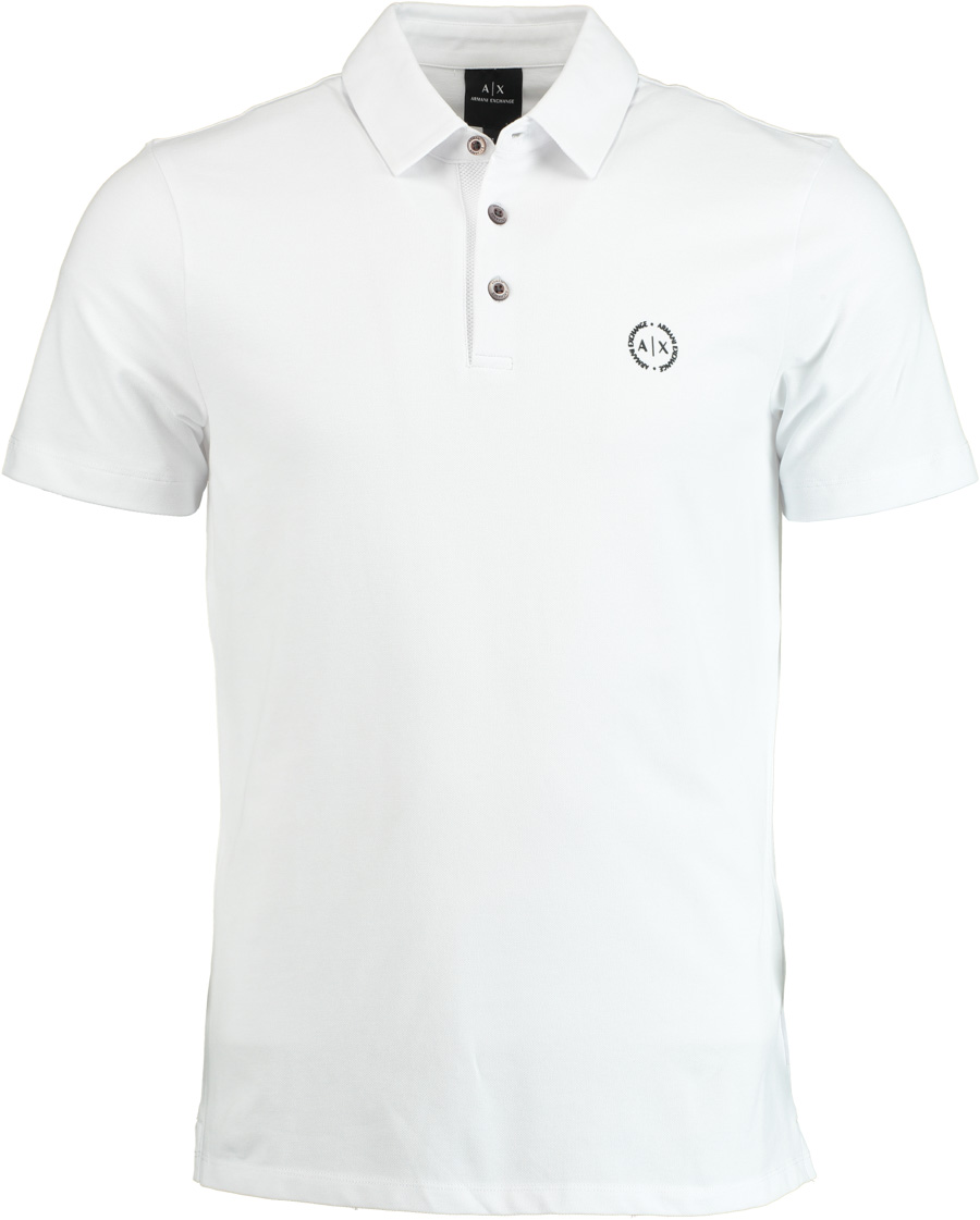 Armani Exchange witte modern fit polo 8NZF78.ZJ81Z/1100 - Maat L