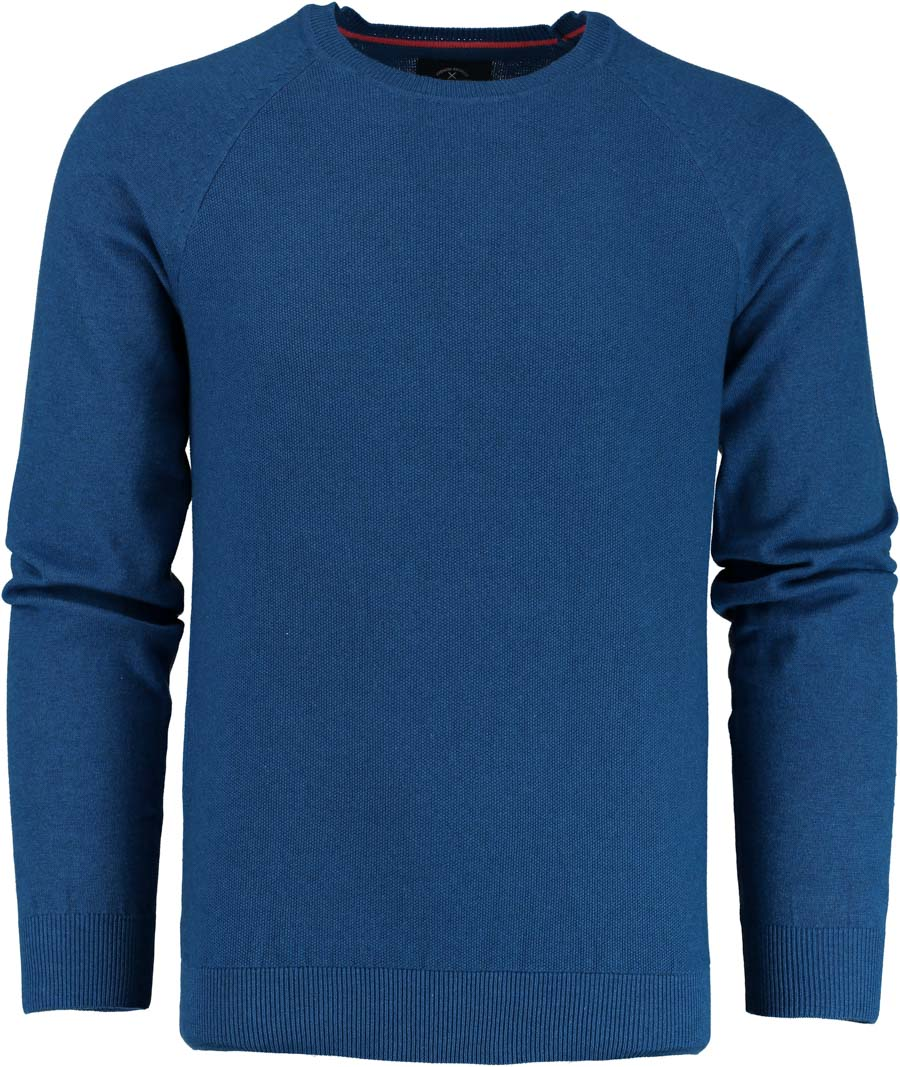 Born with Appetite Ben R-neck Pullover Fancy Kni 19105BE11 247 cobalt