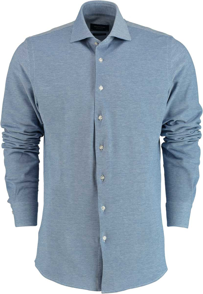 Profuomo knitted shirt lichtblauw PPHA