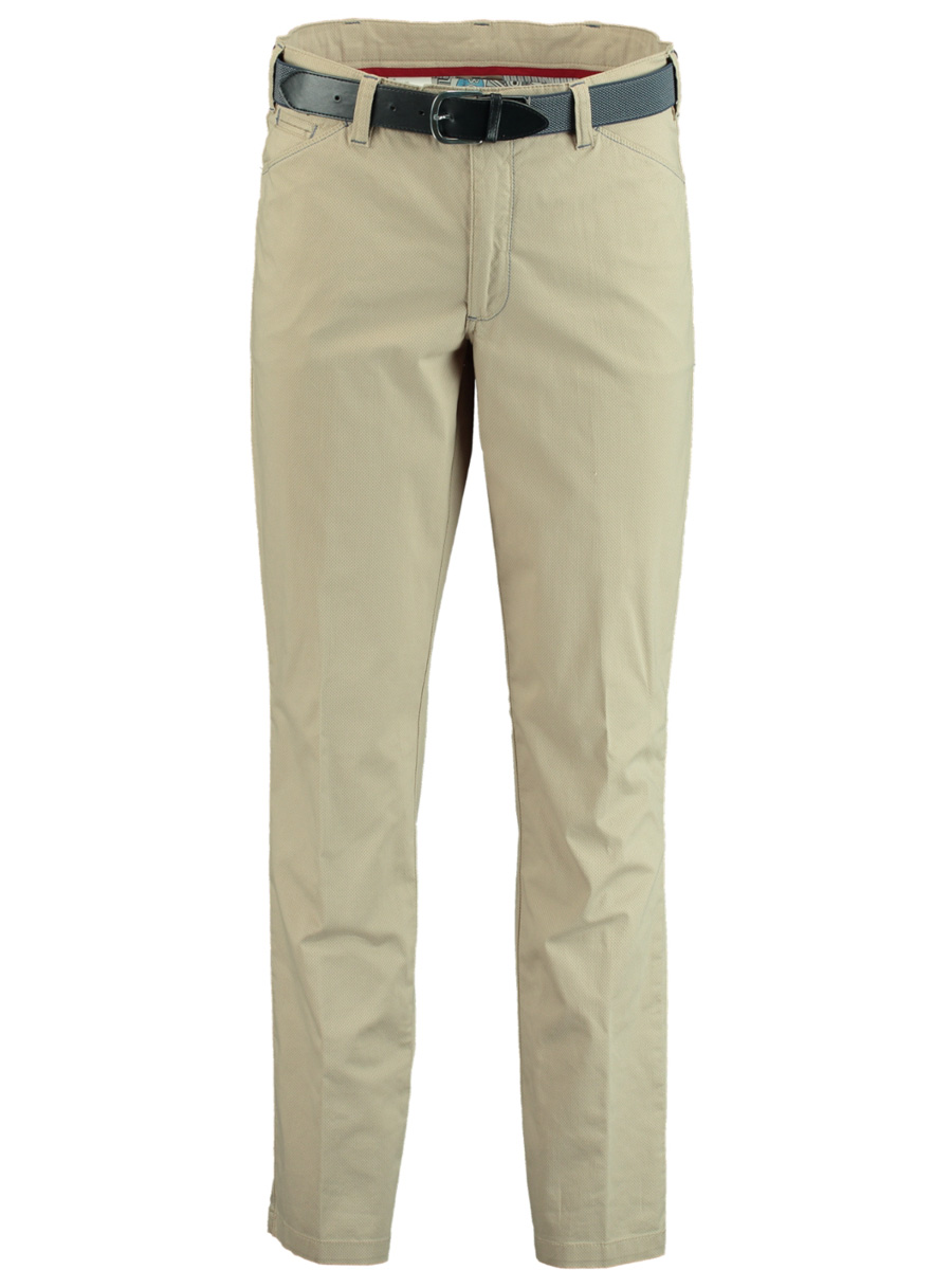 Bos Bright Blue Chino beige modern fit F.
