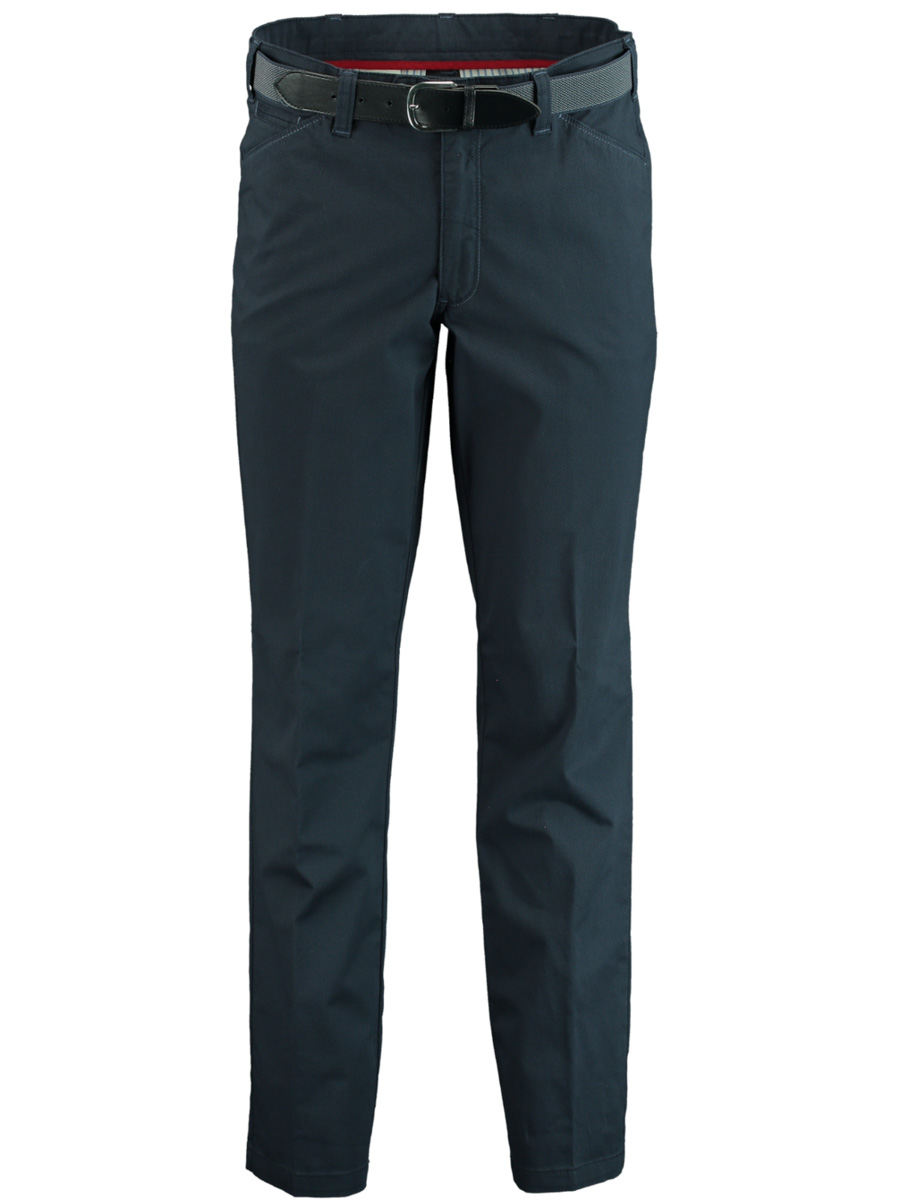 Bos Bright Blue Chino donkerblauw modern fit F.