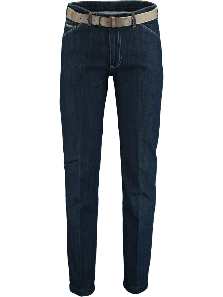 Bos Bright Blue Bos bright Blue contrast jeans F.