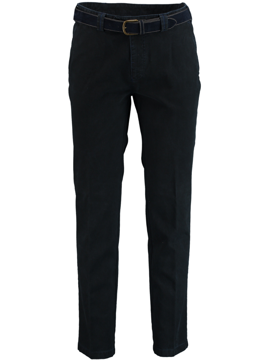 Bos Bright Blue Chino modern fit stretch 1T-1789/068 - Maat 25