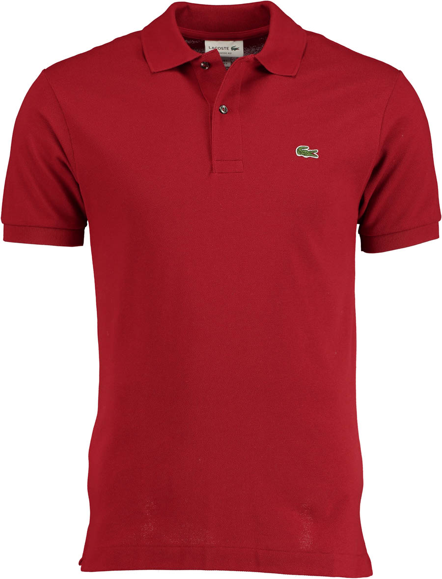 Lacoste Polo Rood Regular Fit L1212/Z1Q - Maat 5
