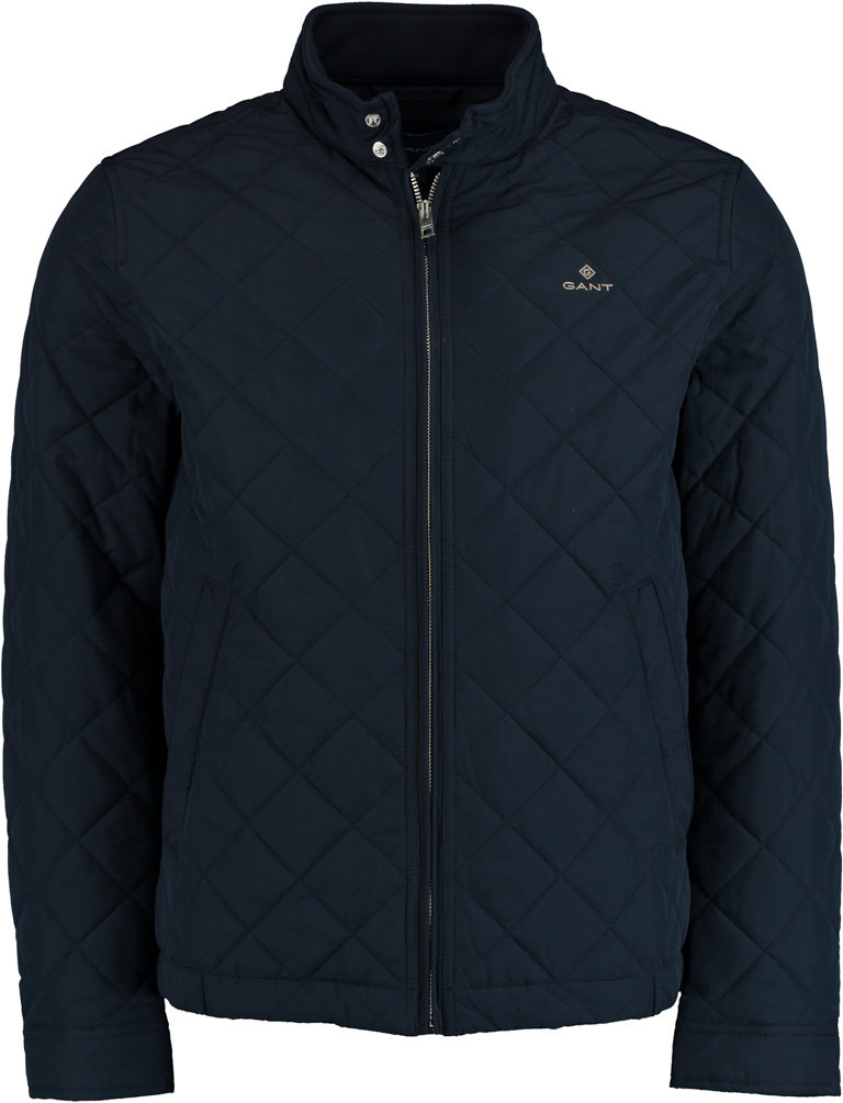 Gant zomerjas quilted donkerblauw