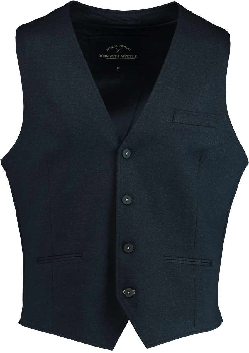 Born with Appetite gilet donkerblauw KR navy