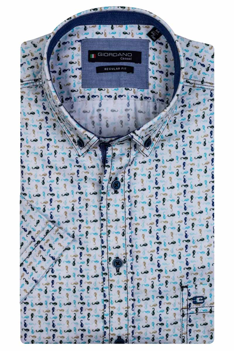Giordano Sky SS Button Down 106024/70 - Maat M