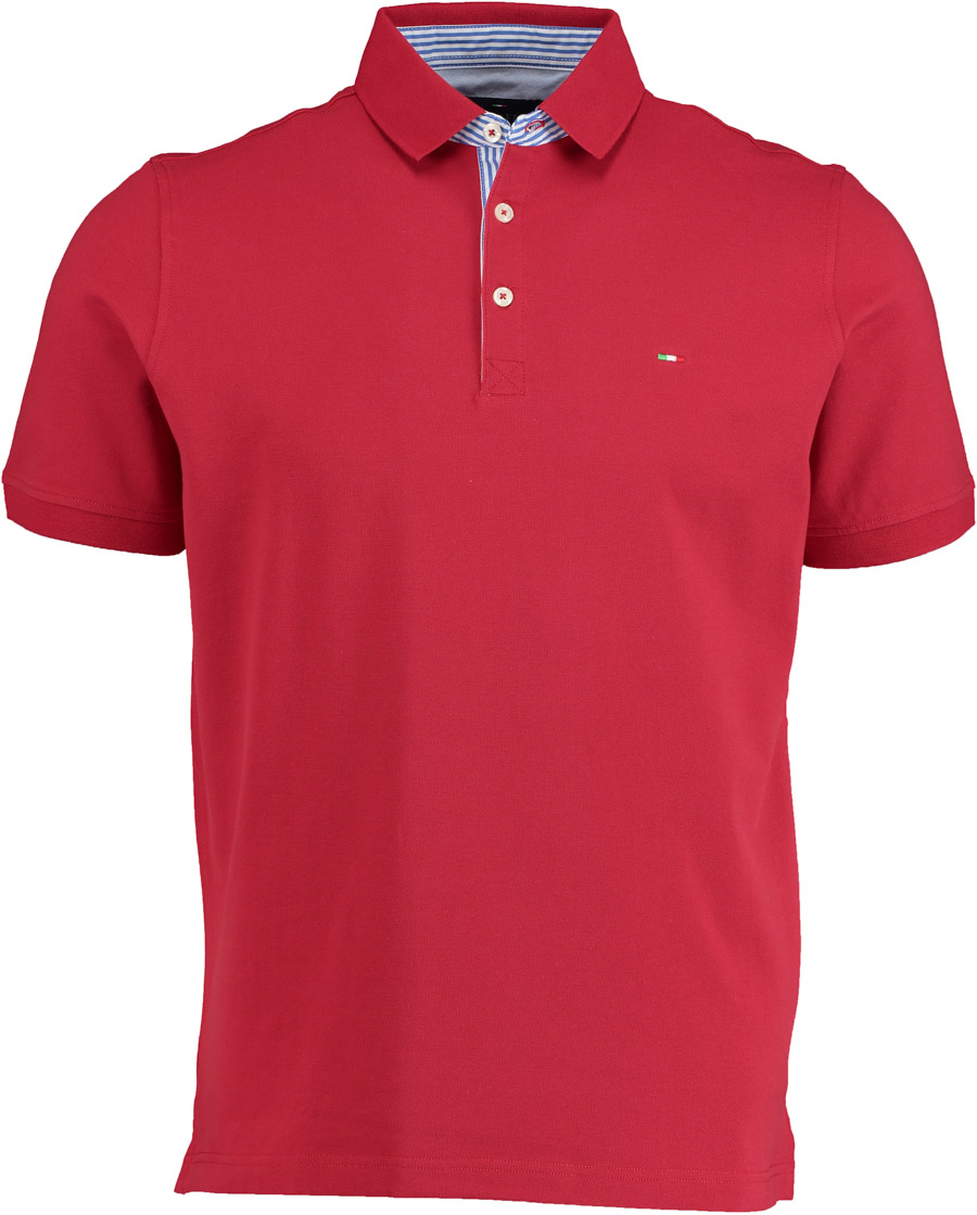 Portofino Bordeaux polo oxford contrast 1052PRATF07-5/42 - Maat XL
