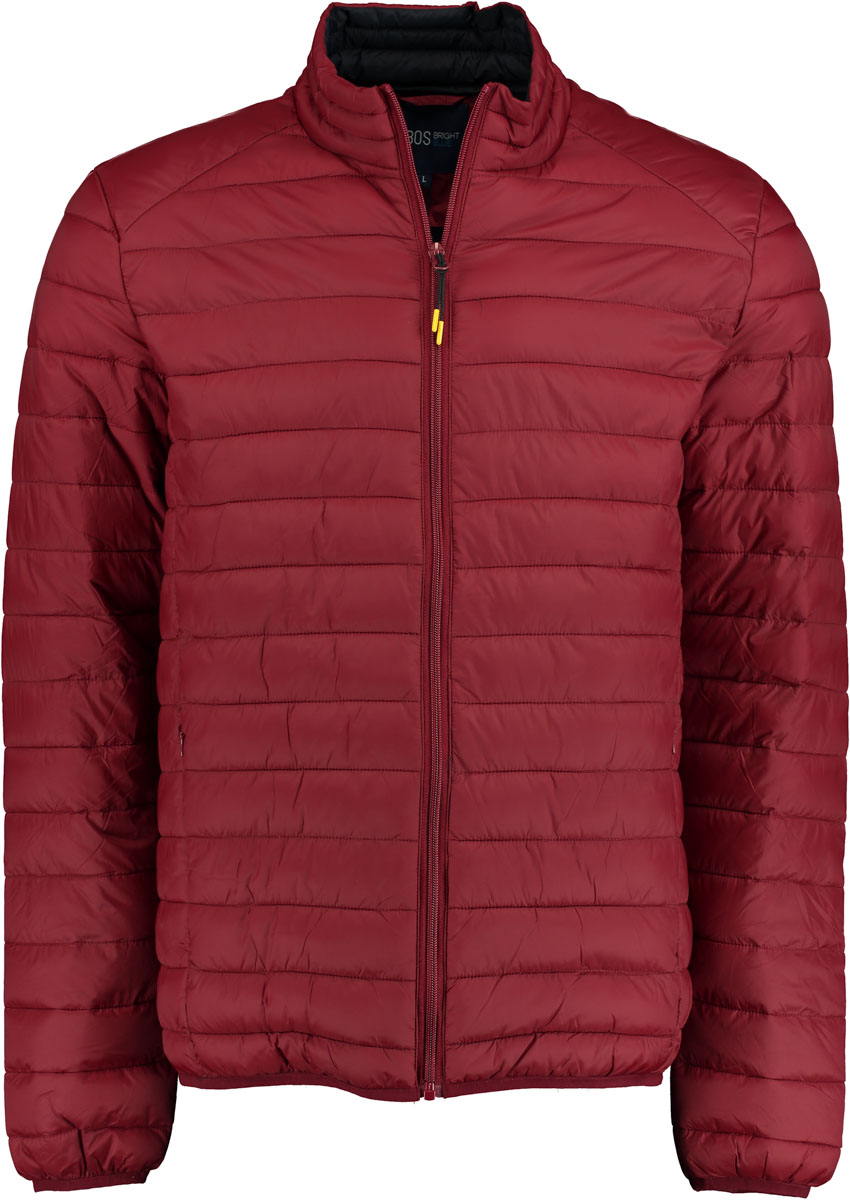 Bos Bright Blue Puff Jacket JABO wine red