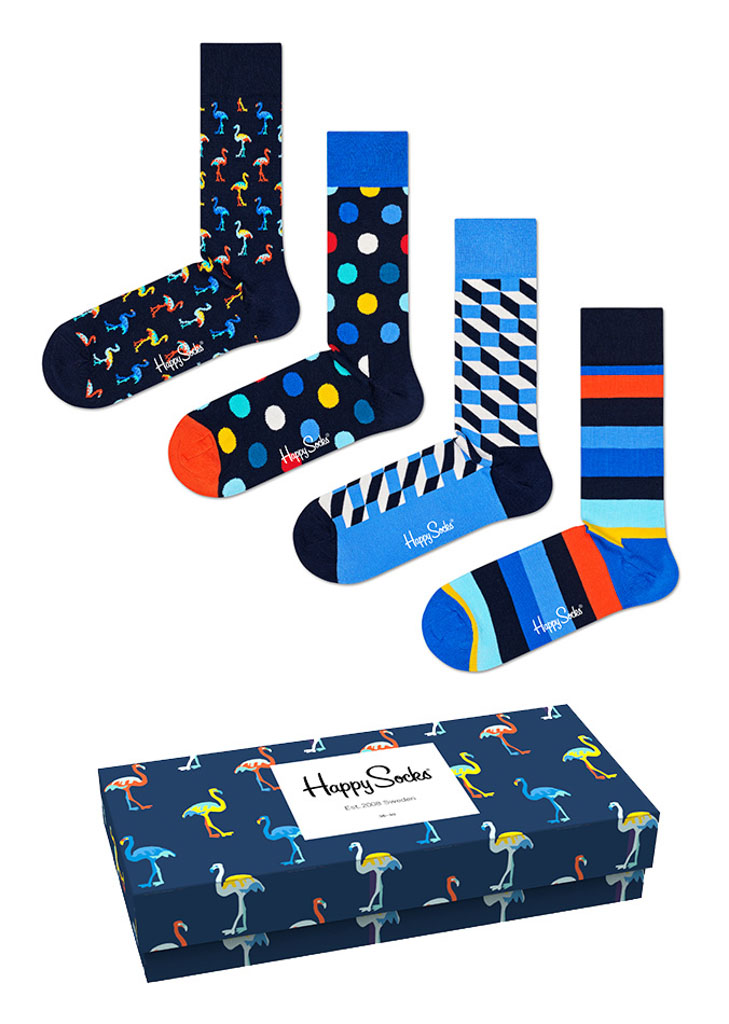 Happy Socks Navy Gift Box Cadeaubox XNAV09/6200 - Maat 41-46