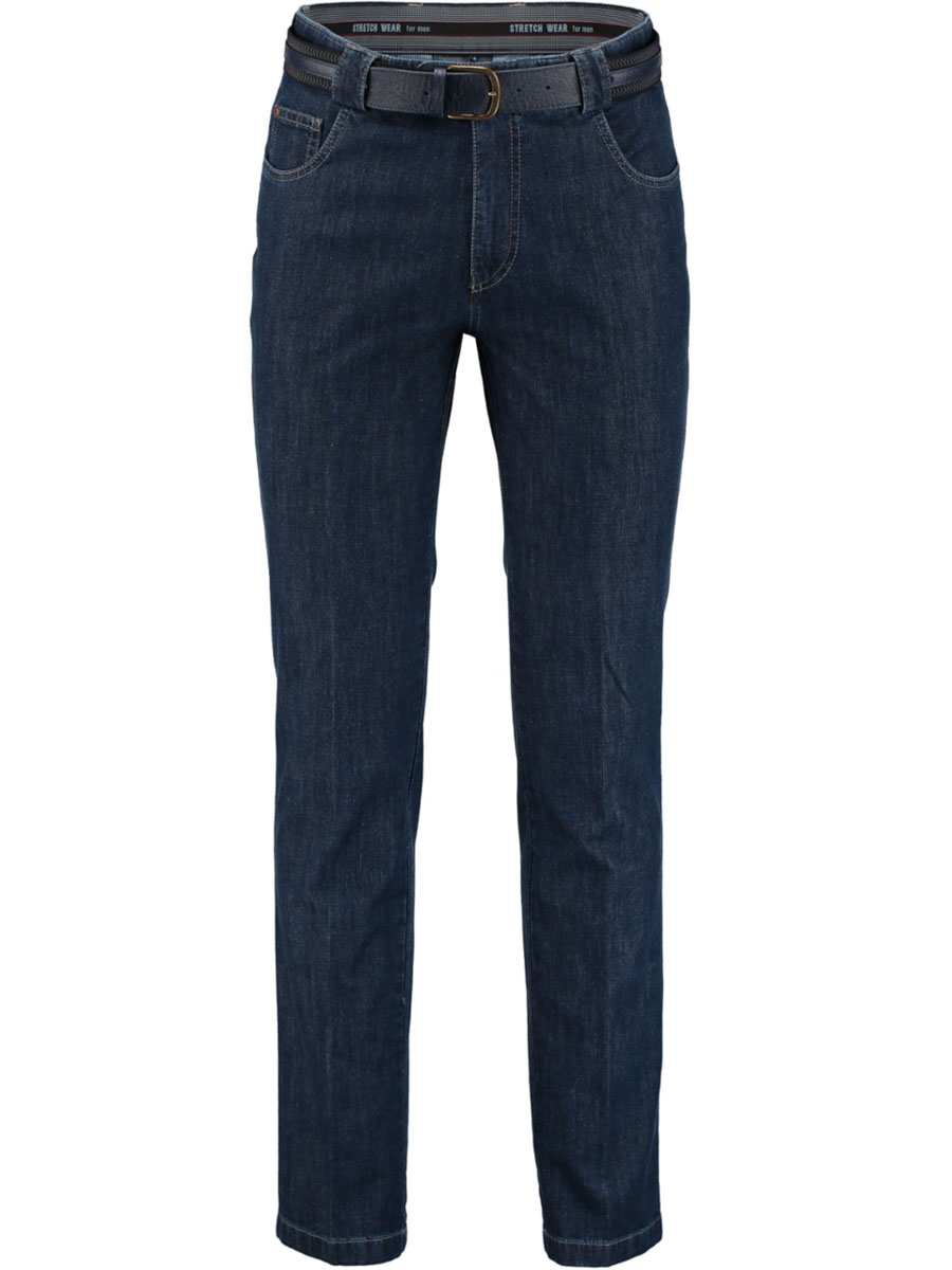 Bos Bright Blue Jeans donkerblauw met stretch 2M.110/3098 - Maat 54