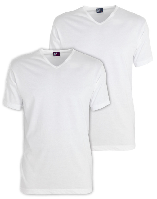 Alan Red Vermont t-shirt wit v-hals 6671.2/01