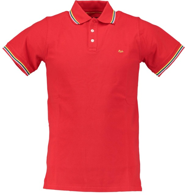 Born with Appetite polo pique rood met stretch 18108SU32/676 rouge