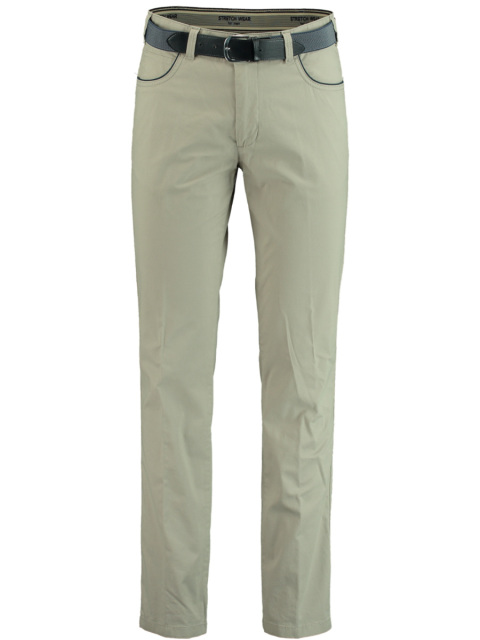 Bos Bright Blue Chino lichtgrijs modern fit 2Q.1804/013