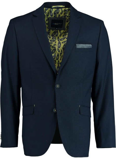 Bos Bright Blue Colbert donkerblauw stretch 201037GRO83BO/290 navy