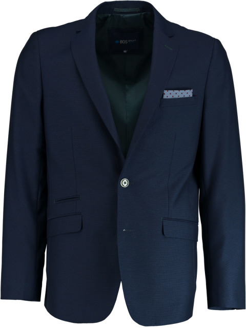 Bos Bright Blue Eight Jacket Slim Fit 183038EI63BO/290 navy