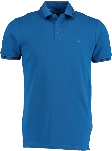 Bos Bright Blue Jason Polo Fine Pique Plain 20108JA30BO/240 blue