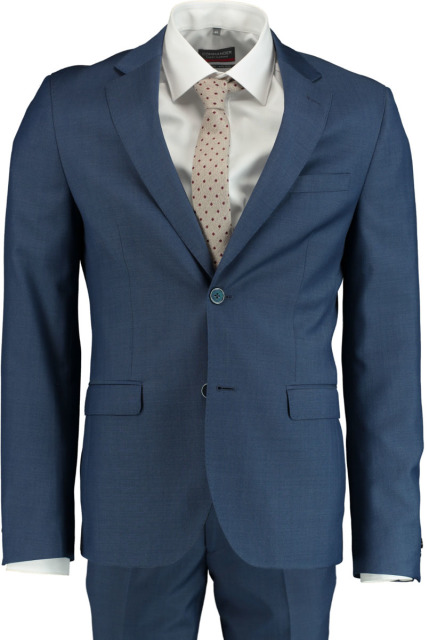 Bos Bright Blue Kostuum blauw slimfit 191028TO23SB/240 blue
