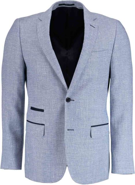Bos Bright Blue Napoli Modern Fit Colbert 40230002/0001