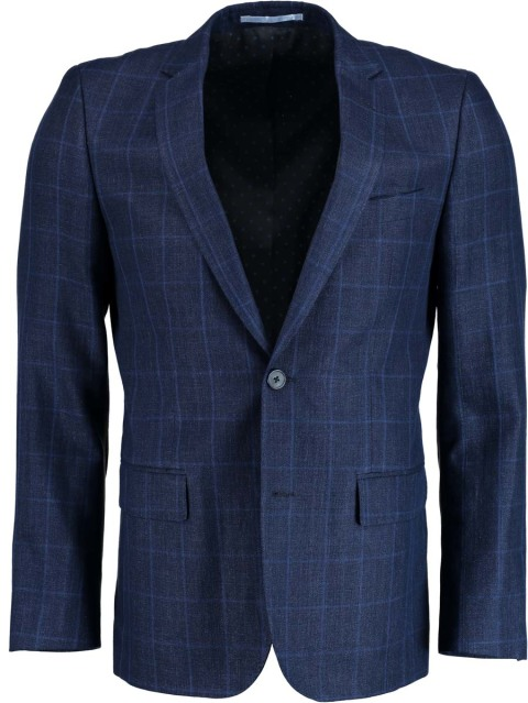 Bos Bright Blue Napoli Modern Fit Colbert 44220005/0006