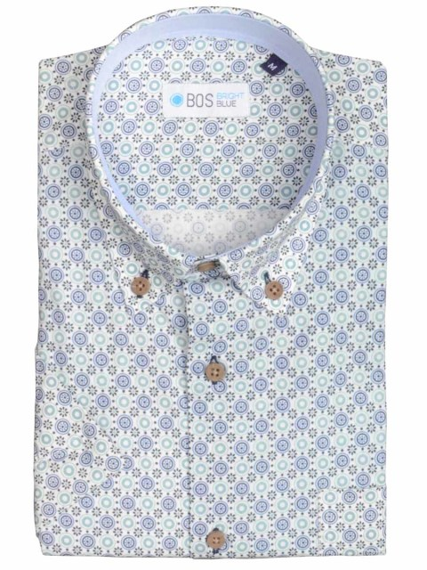 Bos Bright Blue Shirt korte mouw 18.2/05
