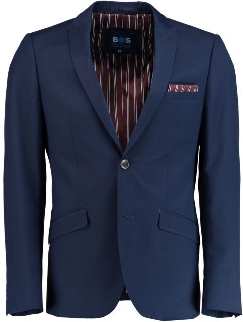 Bos Bright Blue Slim Fit Colbert SPE173038ED56BO/290
