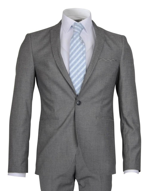 Bos Bright Blue Sneaker Suit Super Slim Fit BWA171029SN26/940