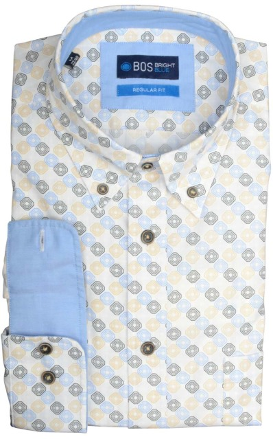 Bos Bright Blue Willem Casual Overhemd 19107WI26BO/500 multicolour