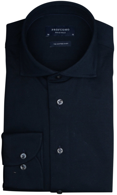 Profuomo jersey overhemd navy PP0H0A054/P
