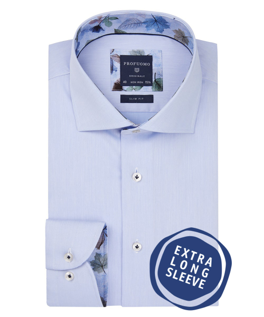 Profuomo overhemd extra lang slim fit PPQH3A1129/M