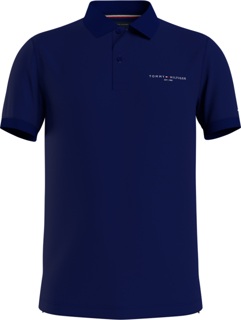 Tommy Hilfiger polo clean jersey donkerblauw MW0MW18282/DY4