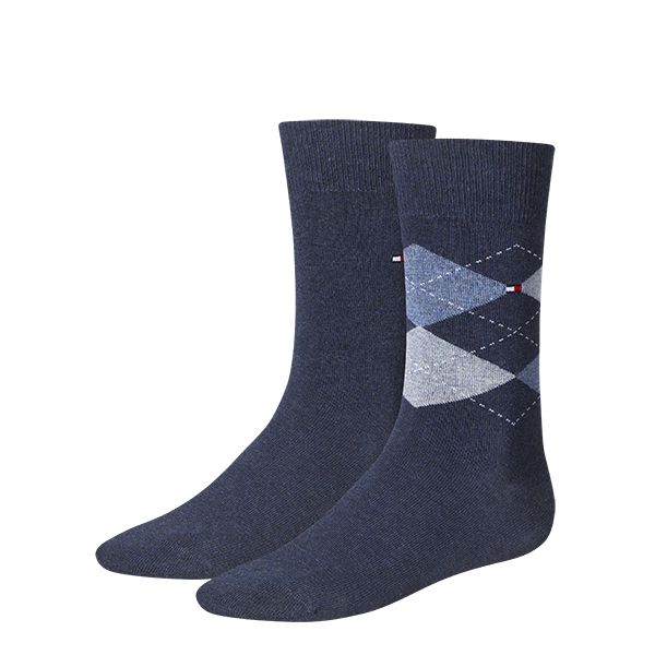 Tommy Hilfiger TH MEN SOCK CHECK 2P 391156/356