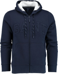 Gant embossed full zip sweat hoodie 2047002/433