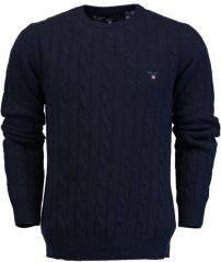 Gant o1. neps lambswool cable crew 8020000/410