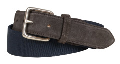 Profuomo BELT 4,0 CM CANVAS-LEATHER NA PPOR100013/P