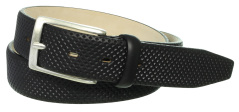 Profuomo BELT EMBOSSED BLACK PPNR10001/A