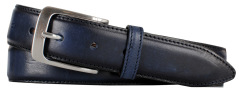 Profuomo BELT LTHR SIDE POLISH NAVY PP1R00081/P